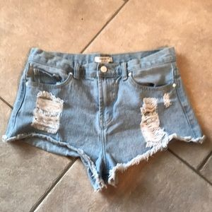 Forever 21 Distressed Shorts, Size 28